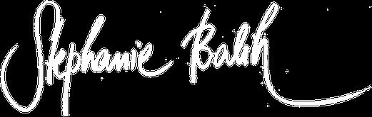 Stephanie Balih Logo White